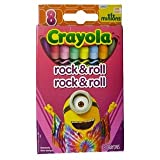 Crayola Minions The Movie High Quality Premium Crayons 8 Count (Rock & Roll)