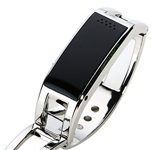 Smart Bluetooth watch bracelet applicable for every brand bluetooth mobile phone (Silver) image
