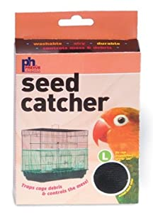 Prevue Pet Products BPV822 Seed Guard Nylon Mesh Bird Seed Catcher, 13-Inch, Assorted Colors