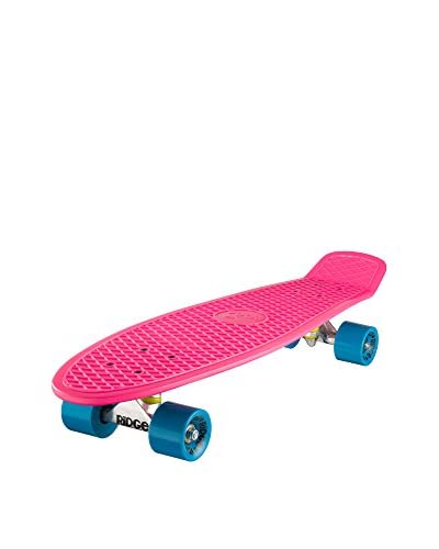 Ridge Skateboards Skateboard Big Brother Cruiser Fucsia/Blu