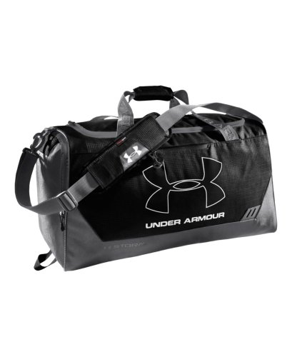 Under Armour UA Hustle Storm MD Duffle Bag One Size Fits All Black image