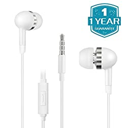 Mugmee (TM) Premium Noise Cancelling Earphones Handsfree Stereo Earbuds with Remote Control and Mic