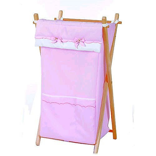 Picci Dafne Laundry Hamper in Pink and White