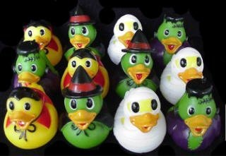 [Dozen Assorted Halloween Costume Mini Rubber Ducks Ducky - 2.5 by Rhode Island Novelty] (Rubber Ducky Halloween Costume)