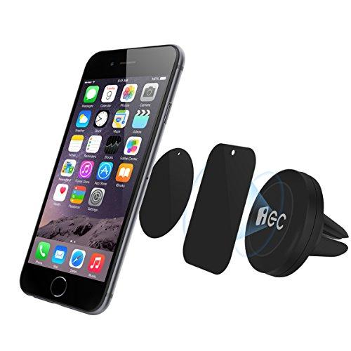 EC TECHNOLOGY, Support téléphone voiture EC Technology Support magnétique  Universel sur aération et Kit de fixation Support Auto 0443049f7c89