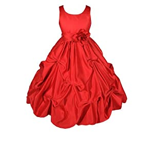 Heavenly Red Flower Girl Dress