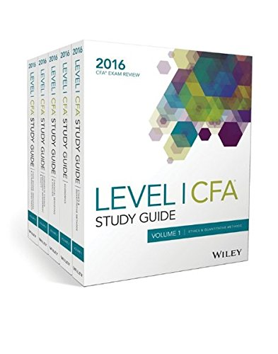 Wiley Study Guide for 2016 Level I CFA Exam: Complete Set (Cfa Exam Level 1 compare prices)
