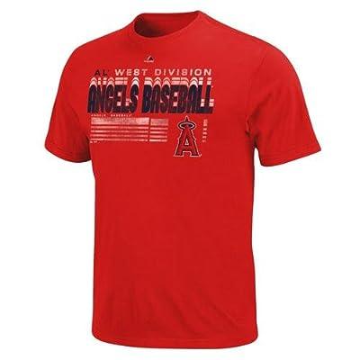 MLB Los Angeles Angels Men's Capacity to Win Short Sleeve Tee, Medium, Red