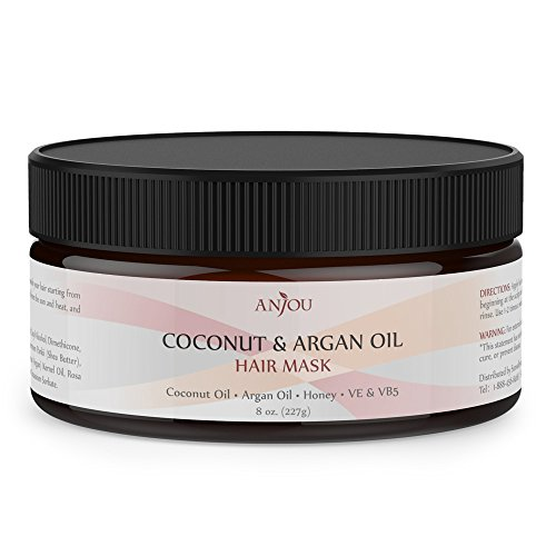 Anjou Argan Oil Hair Mask 8OZ, Hair Treatment, Deep Coconut Oil Conditioner for Dry Damaged Hair Color & Curly Treated Hair and Hair Loss (Curly Hair Deep Conditioner compare prices)
