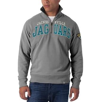 Jacksonville Jaguars - Striker 1 4 Zip Premium Sweatshirt Grey by Jacksonville Jaguars