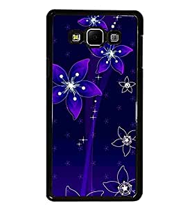 PrintDhaba Floral Pattern D-1237 Back Case Cover for SAMSUNG GALAXY E7 (Multi-Coloured)