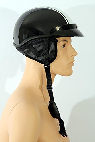 Motorcycle helmet Half shell helmet TC-55 black/white L ABS, Polycarbon Polystyrene