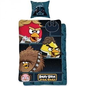 parure housse de couette linge de maison angry birds star wars lit 1 personne decoration chambre. Black Bedroom Furniture Sets. Home Design Ideas