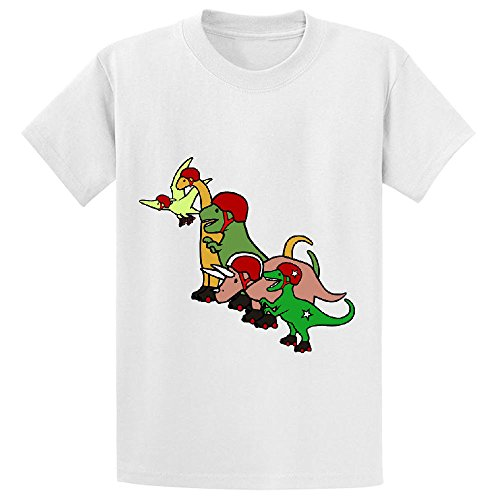 Unicorn Roller Derby Dinosaurs Girls Customized Crew Neck Tees White (I Ate A Shark Shirt compare prices)