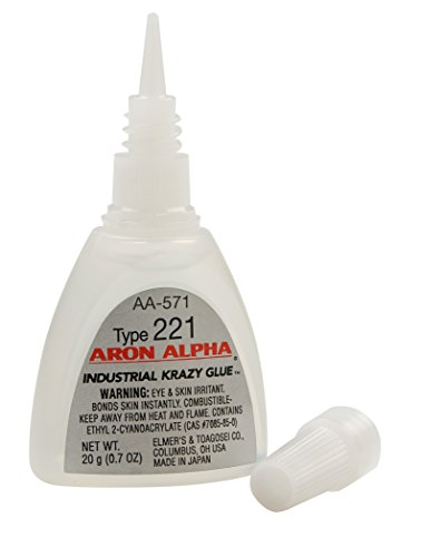 Aron Alpha Type 221 (2 cps viscosity) Fast Set Instant Adhesive 20 g (0.7 oz) Bottle