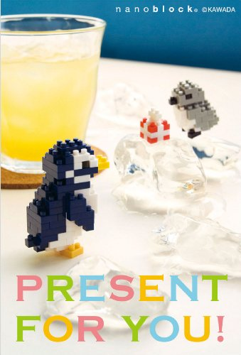 nanoblockポストカード (ペンギン) 多目的