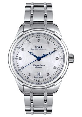 Swiss Watch International Men's Limited Edition Collection Automatic Diamond Watch A9243.SSSD