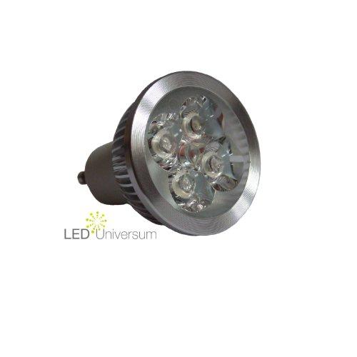 10er Pack: LED Spot GU10 – 4W (4x1W) – High Power LEDs – warmweiss (entspricht 40W Halogen)
