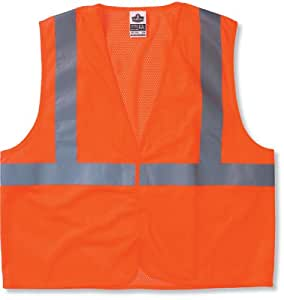 Ergodyne GloWear 8210HL Class 2 Economy Vest 4X-Large/5X-Large, Orange