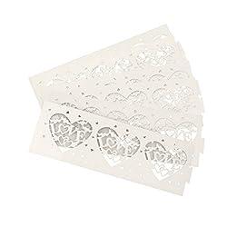 Imported 6pcs Love Letter Heart LED Tea Light Holders Wedding Christmas Decor White