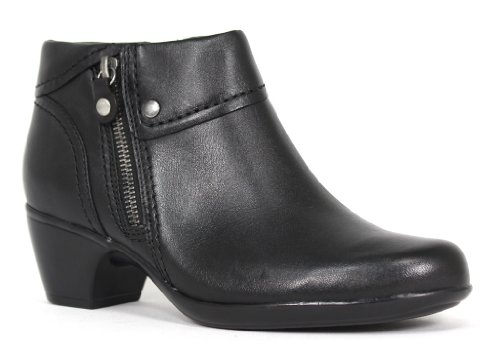 Clarks Women's Ingalls Thames Bootie,Black Leather,8 M US