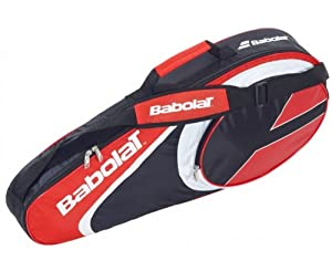 Babolat Tennistasche Racket Holder X 3 Club - Bolsa para material de tenis, color rojo / blanco, talla 74 x 33 x 14 cm