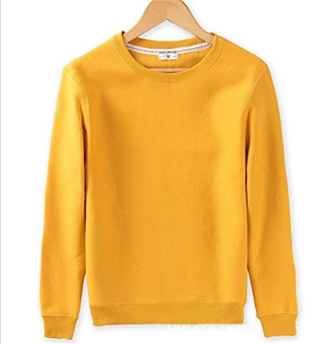 GOEWA -  Felpa  - Uomo Yellow X-Small