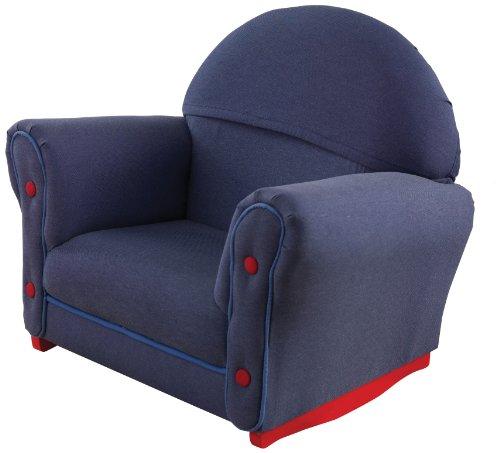 KidKraft Upholstered Rocker - Denim with Slip Cover