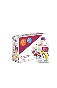 Happy Baby Organic Baby Food 2 Simple Combos, Banana Beet & Blueberry, 4 Ounce (Pack of 16)
