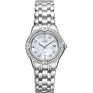 Mop With Diamond Bezel EW2060-54D - Citizen Signature Collection Diamond Ladies wrist watch