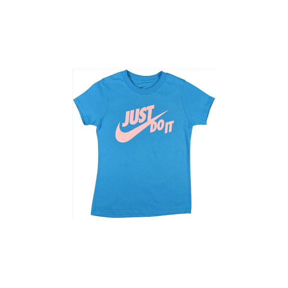 "Nike Girls ""Just Do It"" Big Swoosh Shirt Medium  Fashion T Shirts  Sports & Outdoors"