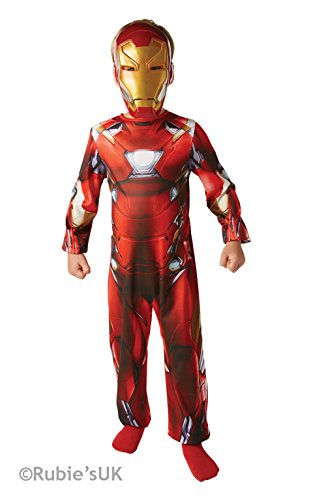 Iron Man Classic - Bürgerkrieg - Kinder Kostüm - Medium - 116cm - Alter 5-6