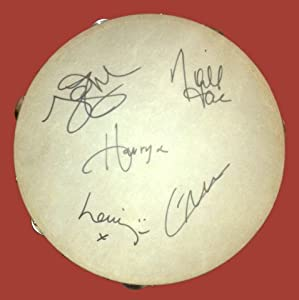 One Direction Band Signed Autographed Tambourine