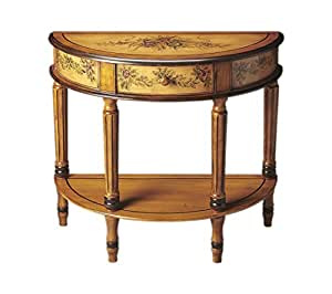 Butler Home Decor Demilune Console Table Finish Type - Light Light Hand Painted
