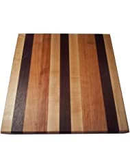 Butcher Block Cutting Board - Edge Grain - Walnut, Cherry, & Rock Maple by Armani+Fine+Woodworking