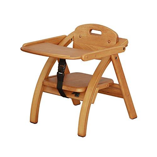 大和屋 アーチ木製ローチェア N LB(ライトブラウン) ベビーチェア 木製 6カ月