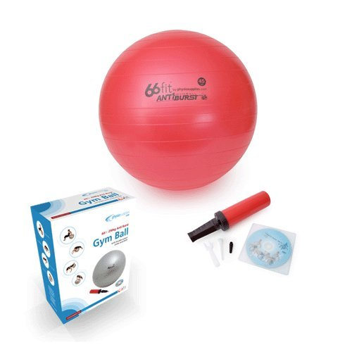 66Fit Gym Ball With Pump & Dvd