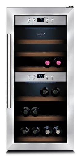 weink hlschrank f r bis zu 24 flaschen zwei temperaturzonen. Black Bedroom Furniture Sets. Home Design Ideas