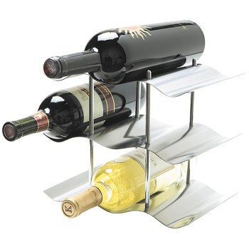 Stainless Steel 3-Tier Wine Rack