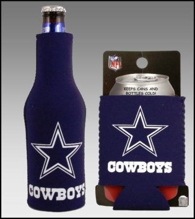 SET OF 2 DALLAS COWBOYS CAN & BOTTLE KOOZIE COOLER at Amazon.com