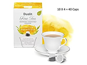 Shop for Dualit Fine Tea Nespresso Compatible Capsules Engish Breakfast Pack Of 40 from Dualit