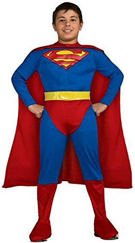 Deluxe Superman Muscle Chest Child Costume Size:Child Large 12-14