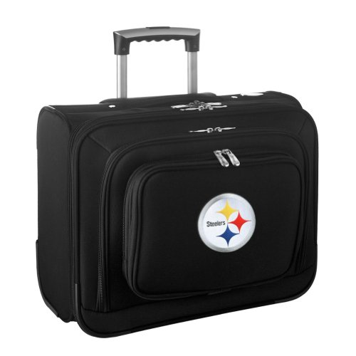 Denco Sports Luggage NFL Pittsburgh Steelers 14'' Laptop Overnighter (Black) at Amazon.com