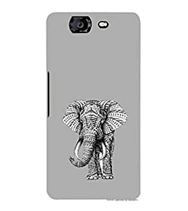 EPICCASE ash elephant Mobile Back Case Cover For Micromax Canvas Knight A350 (Designer Case)