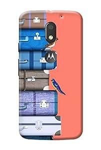 Moto E3 Power Cover Premium Quality Designer Printed 3D Lightweight Slim Matte Finish Hard Case Back Cover for Moto E3 Power + Free Mobile Viewing Stand