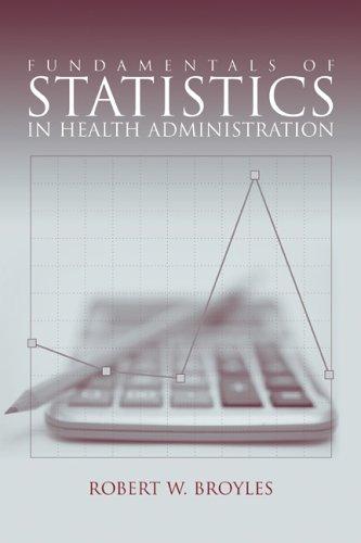 Fundamentals of Statistics in Health Administration