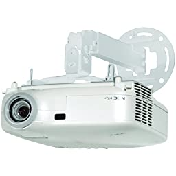 Projector Ceiling/wall Mount 17.2IN-25.2IN Adjustable Extension (White)