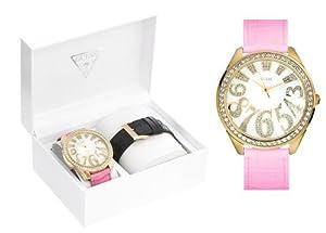 Guess Oversize Gold Cz Carousel Lady Watch U10544L1