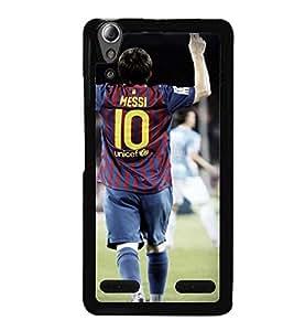 Printvisa Footballer In Action Back Case Cover for Lenovo A6000