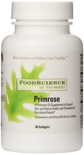 Food Science Of Vermont Primrose Oil 1,000 Mg Soft Gels, 90 Count